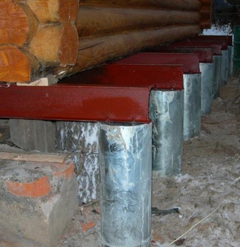 Фундамент для деревянного дома. Утепление, укрепление. Как отремонтировать?